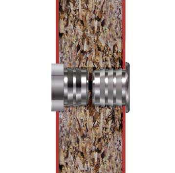 Botón para Fijación sobre Paneles de Madera