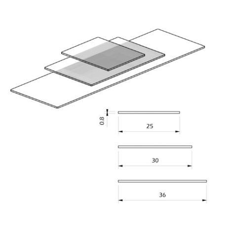 Detalle estantes de cristal para Kode03