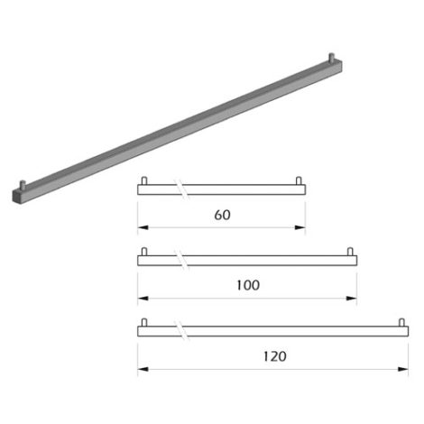 Detalles Barra perchero para cuelgue vertical fijación a expansión Kode03