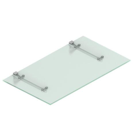 Estante de Cristal Transparente con sistema de fijación a tornillo Kode03