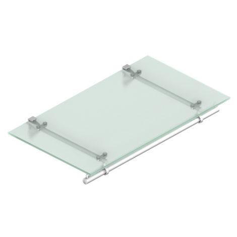 Estante de cristal con barra perchero fijación a tornillo Kode03