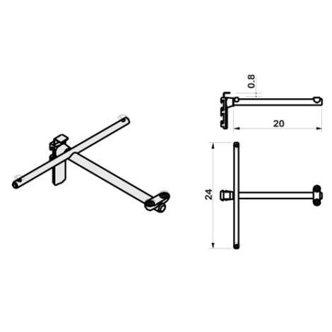 Estribo para estantes individuales sistema de fijación Climb