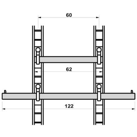 Especificación Barra colgadora Sistema Climb