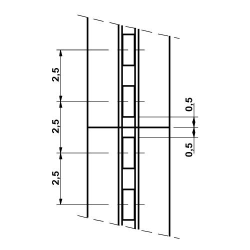 Especificación Perfil cremallera para pared Sistema cremallera Netwall