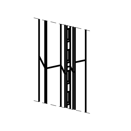 Especificación Perfil cremallera para pared Netwall