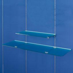 Estantes de cristal transparente perfil de cremallera Netwall