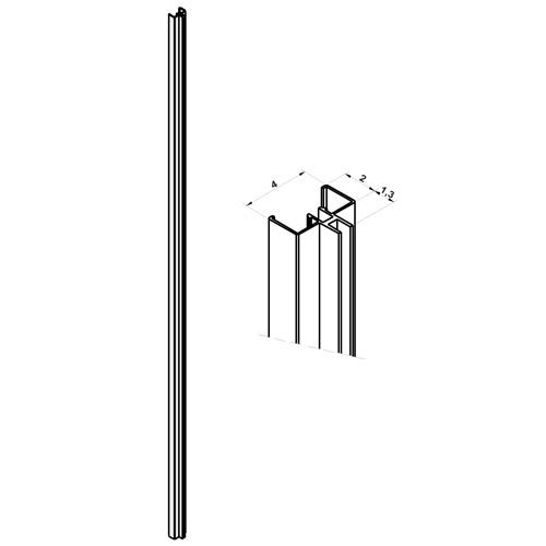 Perfil de cremallera para pared con yeso sistema fijación Netwall