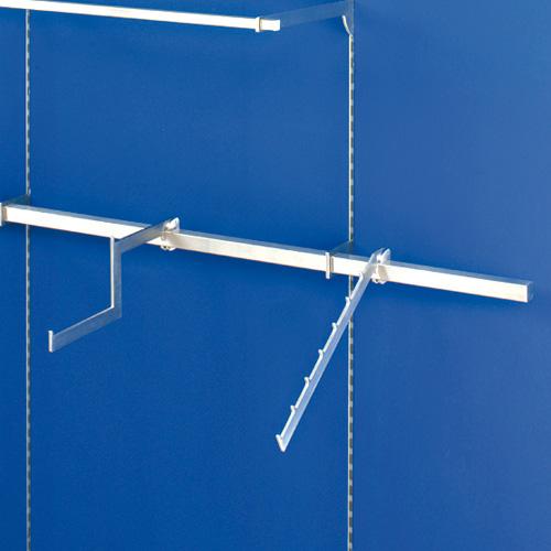 Barra de carga horizontal para la instalación de diferentes percheros