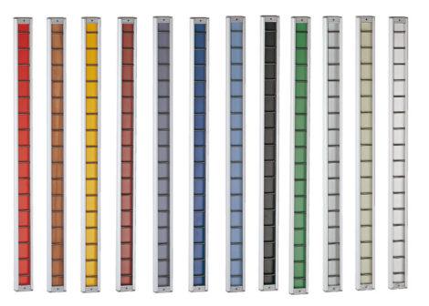 Ejemplos de colores de listones en perfil Climb
