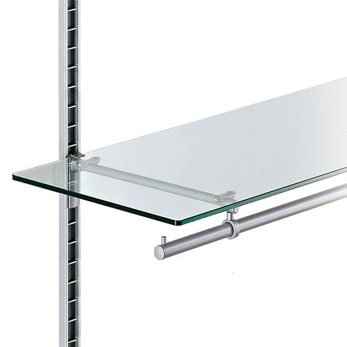 Estante cristal con barra perchero fijación perfil escalera Climb