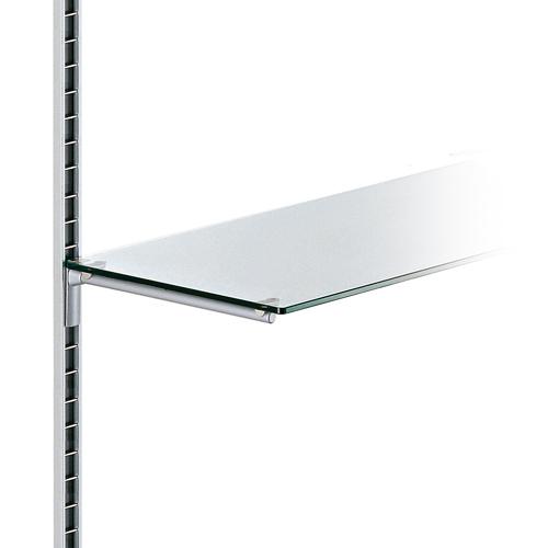 Estante de cristal transparente para perfil de pared Climb