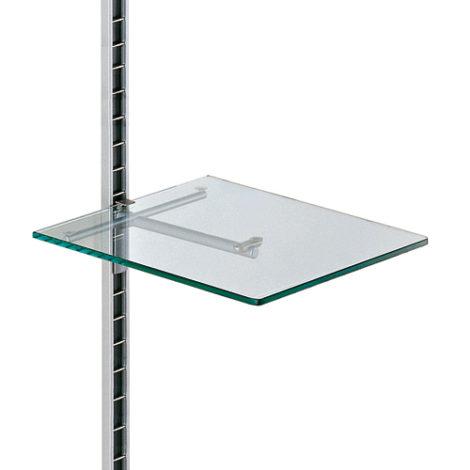 Estante de cristal individual para perfil de pared Climb