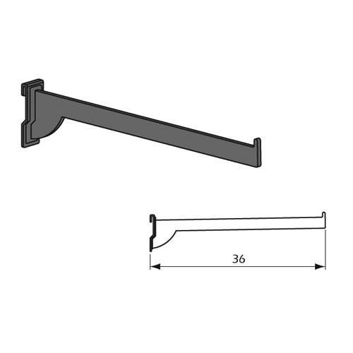 Detalle Técnico Barra Gancho frontal recta Kode01 en Acero Inoxidable