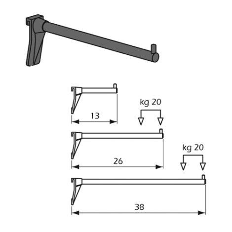 Detalle Técnico Barra Gancho frontal recta sistema de fijación Kode01