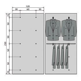 Ejemplo Distribución Perchero y Perchero Lateral