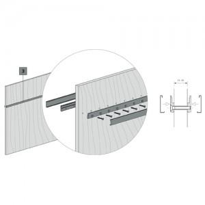 Sistema de fijación contrapuesta para barra Kode01