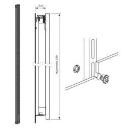 Montante para paneles sistema de fijación Kode02