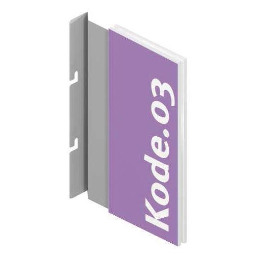 Portapublicidad vertical para sistema fijación Kode03