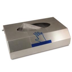Dispensador de guantes en acero inoxidable con acabado satinado