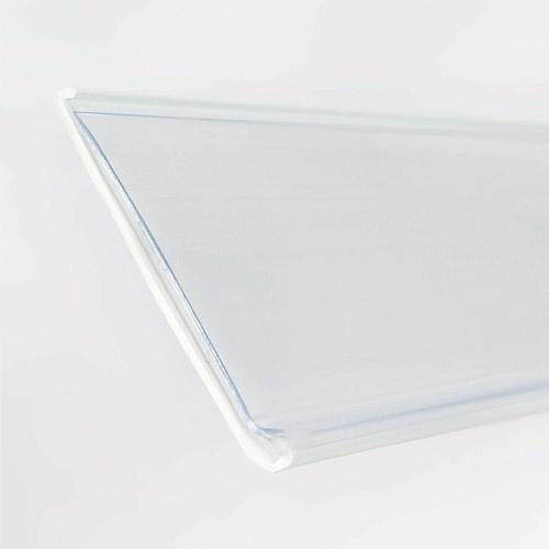Perfil portaprecio DBR en PVC Blanco