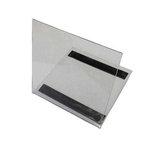 Soporte de metacrilato transparente 15x15 cm