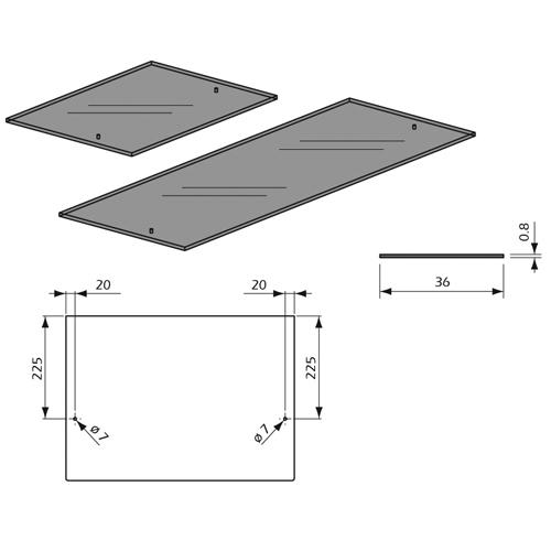 Detalles de Estante de Cristal Transparente Colgado Panel Lama Thinline