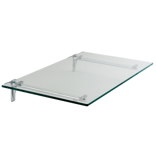 Estante de Cristal Transparente Cromado Elite para Panel Lama Thinline