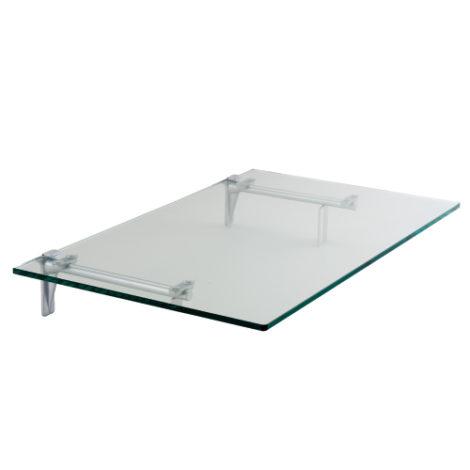 Estante de Cristal Transparente Níquel Perla para Panel Lama Thinline