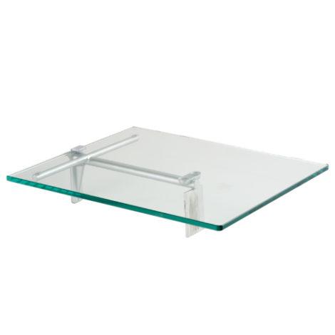 Estante de Cristal Individual en Níquel Perla para Panel Lama Thinline