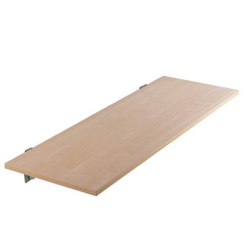 Estante de madera melamina para sistema fijación botón Kode01