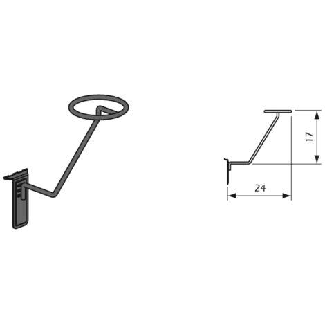 Detalles Accesorio Porta Casco para Paneles Lama Thinline