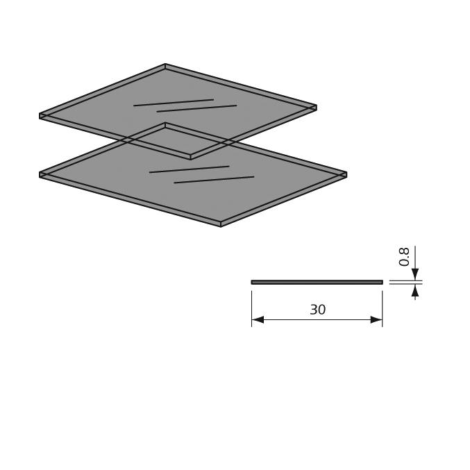 Detalle Cristal Transparente Individual para Panel Lama Thinline