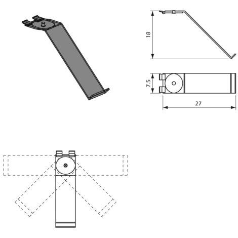Detalles Porta Zapato Giratorio para panel lama Thinline