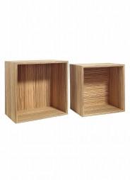 Kit de 2 Expositores en madera para tiendas